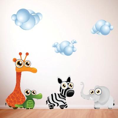 Otroška stenska nalepka - živali